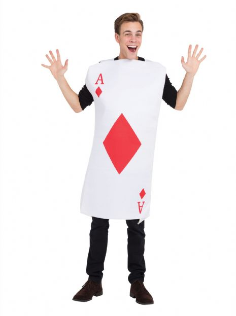 Adults Ace Of Diamonds Costume TBC Party Favour